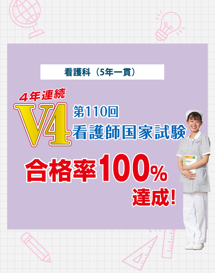 看護科第109回看護師国家試験全員合格